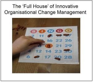 The 'Full House' of Innovative Organisational Change Management