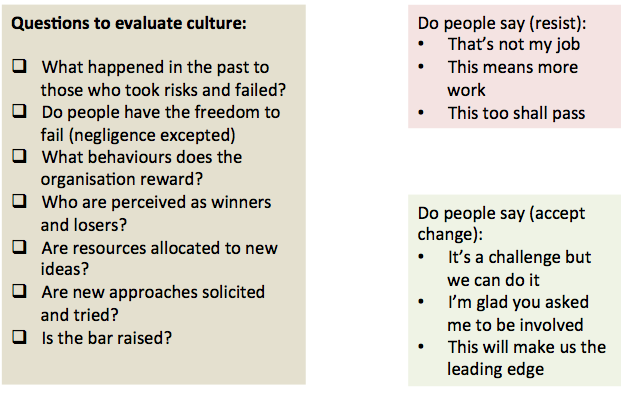 assessing cultures change